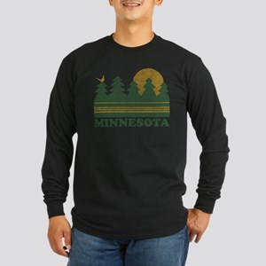 Vintage Minnesota Sunset Long Sleeve T-Shirt