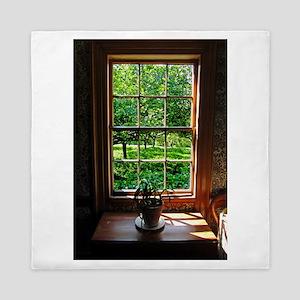 colonial Cottage Window 1 Queen Duvet