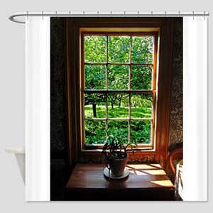 colonial Cottage Window 1 Shower Curtain