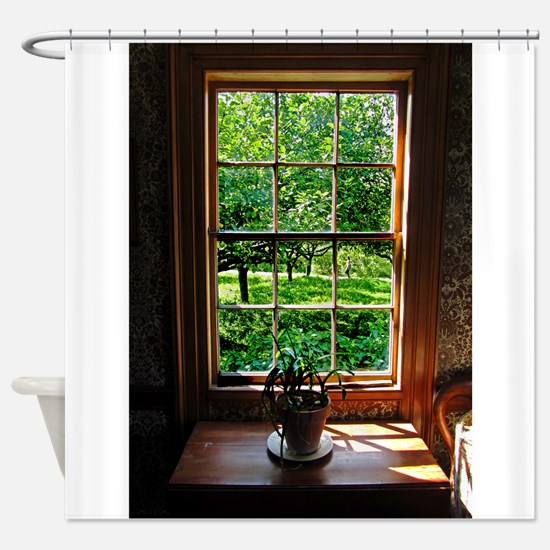 colonial Cottage Window 1.jpg Shower Curtain