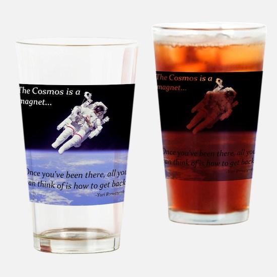 Yuri Romanenko - Cosmos is a magnet Drinking Glass