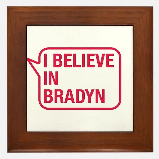 I Believe In Bradyn Framed Tile