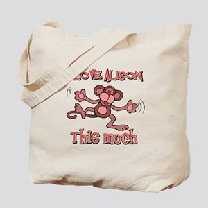 I love Alison Tote Bag