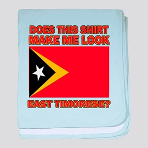 East Timorese Flag Designs baby blanket