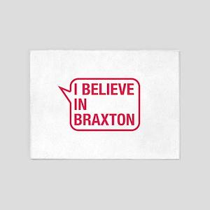I Believe In Braxton 5'x7'Area Rug