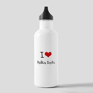 I Love Polka Dots Water Bottle