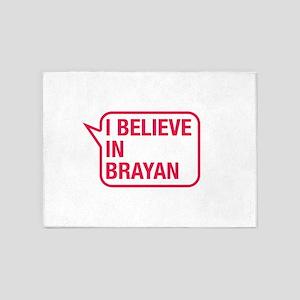 I Believe In Brayan 5'x7'Area Rug