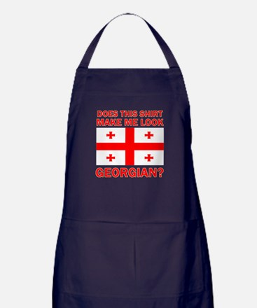 Georgian Flag Designs Apron (dark)
