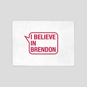 I Believe In Brendon 5'x7'Area Rug
