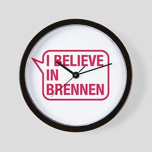 I Believe In Brennen Wall Clock