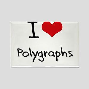 I Love Polygraphs Rectangle Magnet