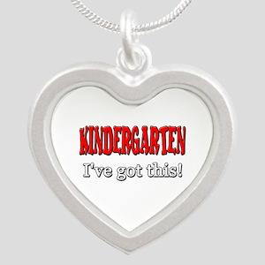 Kindergarten I've Got This Silver Heart Necklace