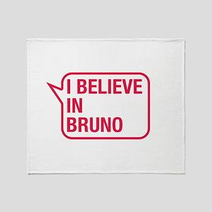 I Believe In Bruno Throw Blanket
