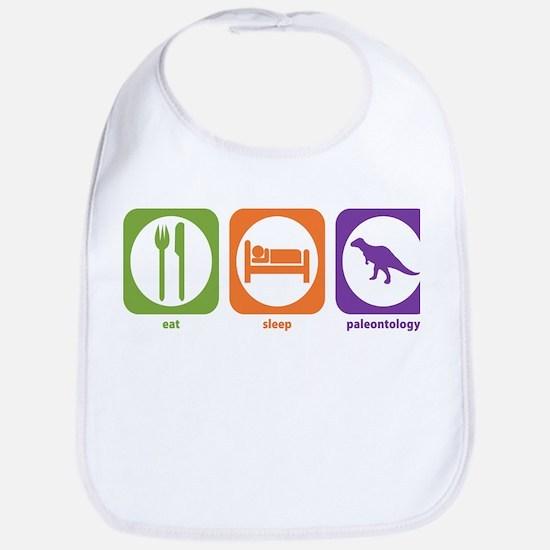 Eat Sleep Paleontology Bib