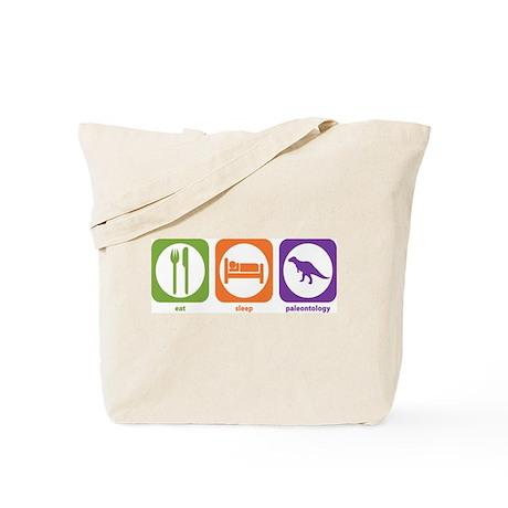 Eat Sleep Paleontology Tote Bag