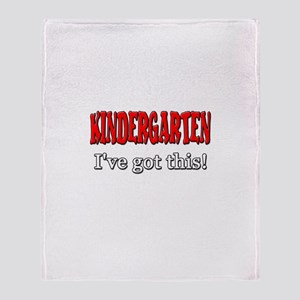 Kindergarten I've Got This Throw Blanket