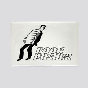 Book Pusher Rectangle Magnet (10 pack)
