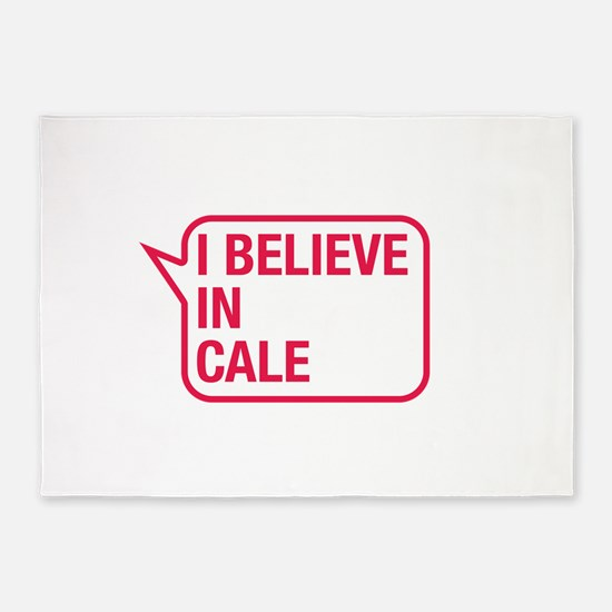 I Believe In Cale 5'x7'Area Rug
