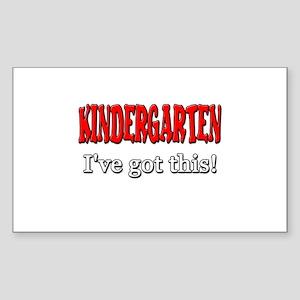 Kindergarten I've Got This Sticker (Rectangle)