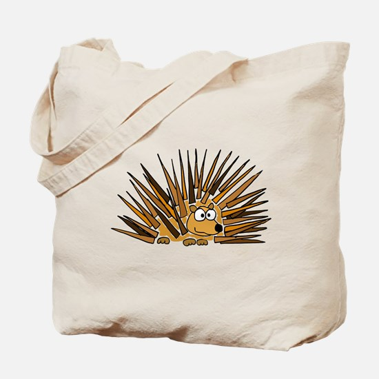 Funky Porcupine Art Tote Bag
