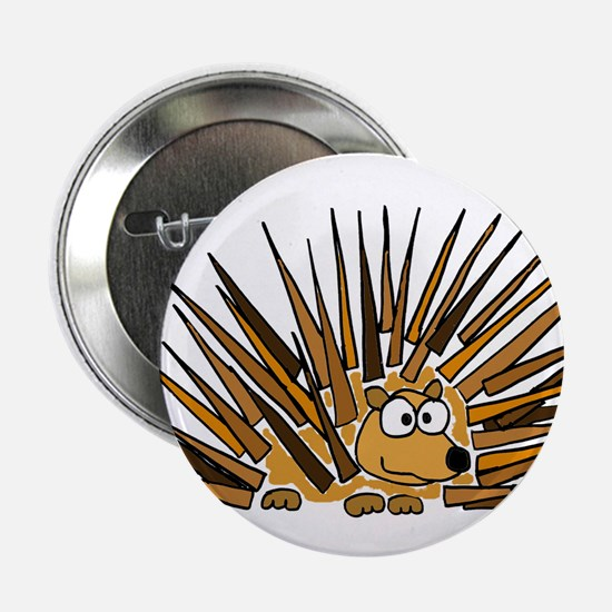 "Funky Porcupine Art 2.25"" Button"