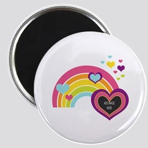 Girly Add Image Rainbow Magnet