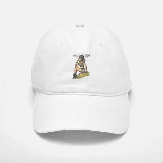Vintage Mississippi Cowgirl Baseball Baseball Baseball Cap