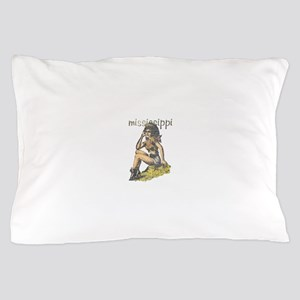 Vintage Mississippi Cowgirl Pillow Case