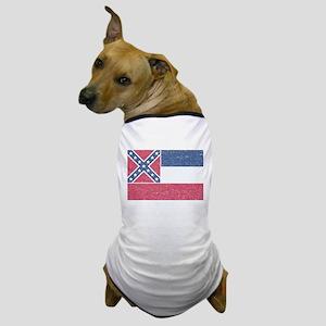 Vintage Mississippi State Flag Dog T-Shirt