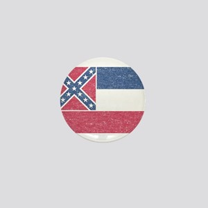 Vintage Mississippi State Flag Mini Button