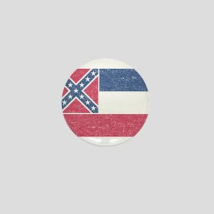 Vintage Mississippi State Flag Mini Button