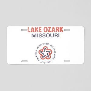 Vintage Lake Ozark Aluminum License Plate