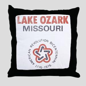 Vintage Lake Ozark Throw Pillow