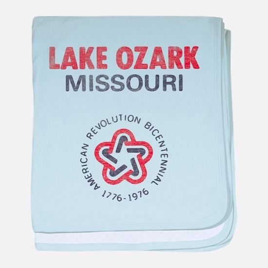 Vintage Lake Ozark baby blanket