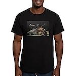 Flintlock showing spar Men's Fitted T-Shirt (dark)