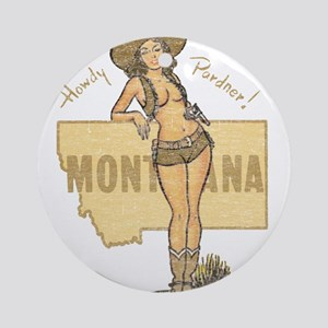Faded Montana Pinup Ornament (Round)
