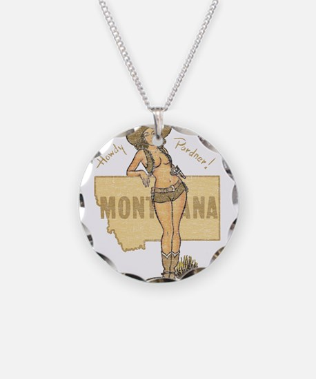 Faded Montana Pinup Necklace