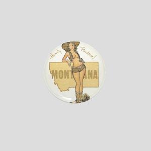 Faded Montana Pinup Mini Button
