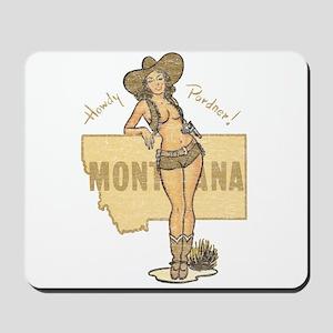 Faded Montana Pinup Mousepad