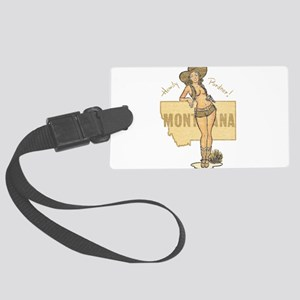 Faded Montana Pinup Luggage Tag
