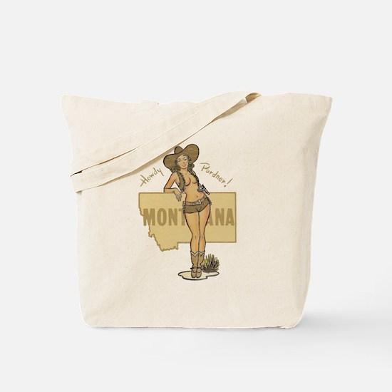 Faded Montana Pinup Tote Bag
