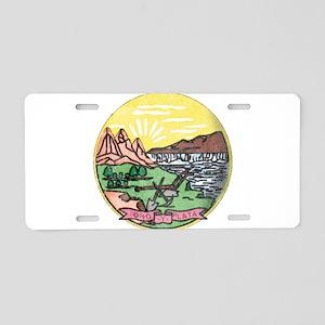 Montana Vintage State Flag Aluminum License Plate
