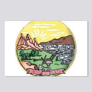 Montana Vintage State Flag Postcards (Package of 8