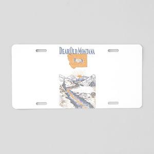 Dear Old Montana Aluminum License Plate