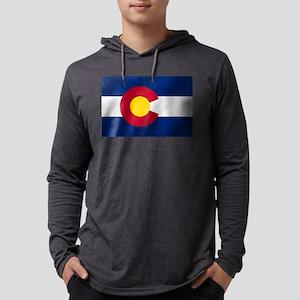 Flag of Colorado Mens Hooded Shirt