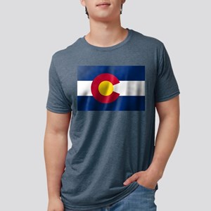 Flag of Colorado Mens Tri-blend T-Shirt