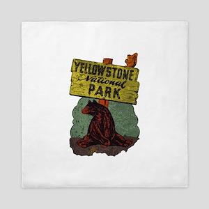 Vintage Yellowstone Queen Duvet