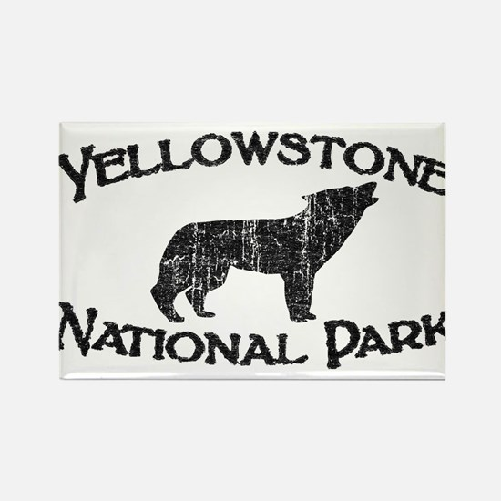 Yellowstone Wolf Rectangle Magnet