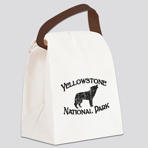 Yellowstone Wolf Canvas Lunch Bag