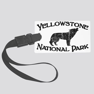 Yellowstone Wolf Luggage Tag